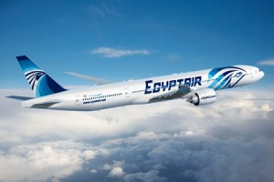 "Aerolinea egipcia ""Egypt air""."
